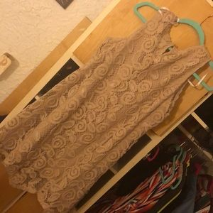 Tan lace dress